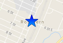 Rosthern Office map